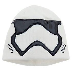 Disney Store Star Wars Stormtrooper Force Awakens Knit Beanie Hat Kids M/L