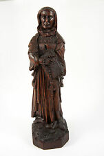 Antique Carved Wood Saint Figure from 16th-18th c. Altarpiece, Northern European