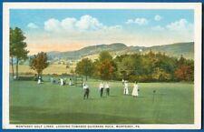 Monterey Golf Links, Looking Toward Quierark Rock, Monterey, PA - Early Postcard