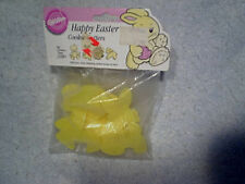 1989 HAPPY EASTER COOKIE CUTTERS SEALED Wilton Plastic-duck,bunny rabbit,lamb