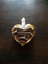 Brown White Glass Heart Pendant