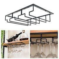 Wine Glass Rack Holder Under Cabinet Shelf Stemware Storage Hanging Organizer