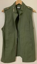 Cabi Green Denim Vest , Small