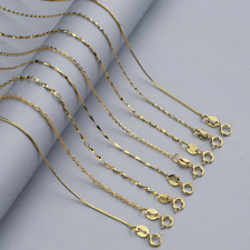 Multi-style Classic Real 925 Sterling Silver Gold Plated Chain Necklace Jewelry