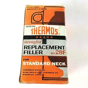 VTG Thermos Stronglass Vacuum Bottle Replacement Filler No 28F Standard Mouth
