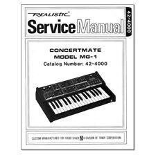Concertmate mg-1 Service Manual Repair Schematic Diagrams schaltbild schema Moog