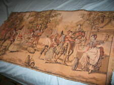 """Beautiful Antique Woven French Victorian Tapestry  20""""x38"""" Romantic"""