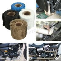 1m 2'' Heat Wrap Exhaust Manifold Tape Downpipe High Temp Insulating Thick  -