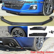CS Style Front Bumper Lip + Aero Rear Aprons (Urethane) Fit 12-16 Subaru BRZ