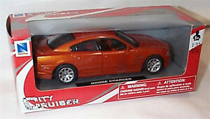 Dodge Charger 2011 in Orange 1:32 Scale Diecast  Newray New in Box