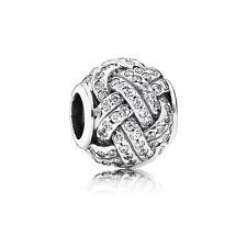 Authentic Genuine Pandora Charm Bead Sparkling Love Knot 791537CZ