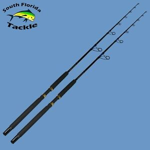 Two Pack 20-30 Lb 7' Solid Fiberglass Blank Spinning Boat Rod