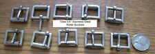 """Lot of 10 5/8"""" Stainless Steel Roller Buckles"""