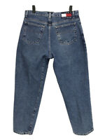 Vintage Tommy Hilfiger Jeans Womens Size 14 Blue Mom Jeans Tapered High Waist