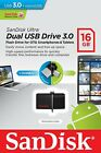 Pendrive Sandisk Dual Drive 16 GB USB 3.0 y MicroUSB Movil Tablet Memoria Ultra