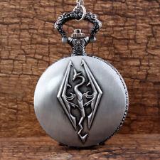 Silver Chain Pendant Watch Women New Hippocampus Steampunk Quartz Pocket Watch