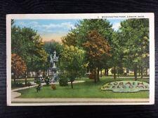 Washington Park in Lorain, Ohio OH White Border Postcard Unused Lorain County