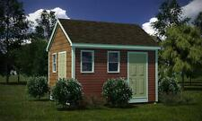 12 x 14 Storage Shed Plans  00006000 Gable Roof Step By Step How To Build Guide & Drawings