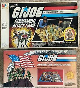 GI Joe Adventure Board Game 1982 Commando Attack Game 1985 Milton Bradley Hasbro