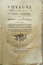** VOYAGES IMAGINAIRES, SONGES, VISIONS - T19 : VOYAGE DE NICOLAS KLIMIUS - 1788