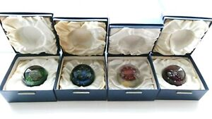 Caithness Paperweight - ELEMENTS Set One - EARTH,AIR,FIRE,WATER 1973 C Terris