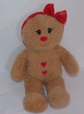 Build a Bear Workshop Plush Gingerbread Girl Christmas Stuffed Animal