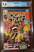 LOGAN'S RUN #6 1ST THANOS SOLO STORY BY MIKE ZECK WHITE PAGES CGC 7.0