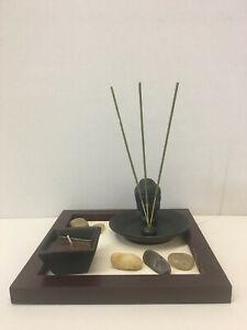 giardino zen legno ceramica sassi sabbia candele incenso regalo decorazione