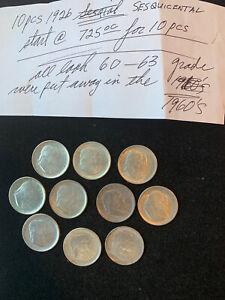 10 Pc. 1926 U.S. SESQUICENTENNIAL HALF DOLLARS