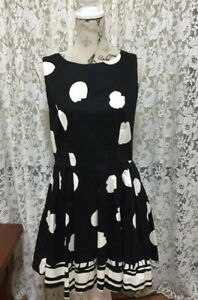 Closet Black & White Dress Size 14 Designed And Made In London