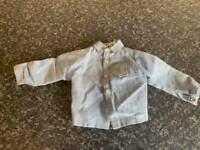 VINTAGE PALITOY/HASBRO ACTION MAN BLUE LONG SLEEVE SHIRT GOOD CONDITION FOR AGE