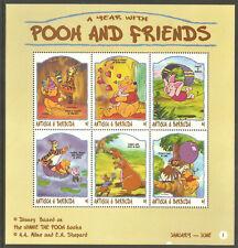 ANTIGUA Sc# 2149 - 2150  MNH FVF Set-2x Sheetlet Disney Winnie the Pooh Tigger