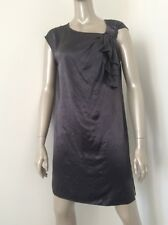 Nwt Marc By Marc Jacobs Silk Purple Silver Tunic Dress Bow $298 Size Small