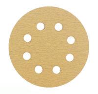 """5"""" 8 Hole 80 Grit Sanding Disc Random Orbital Orbit Hook & Loop Sandpaper"""