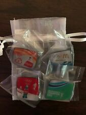 2010 Vancouver McDonald's & Coca-Cola Olympic Pins. Lot of 4 in Original Polybag