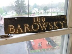 Antique Metal Sign BAROWSKY