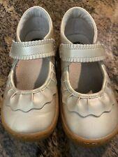 Livie & Luca Size 11 Gold Mary Jane Shoes **EUC**