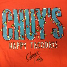 Chuy's T Shirt Happy Taco Days NEW Red Ships Free