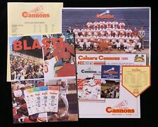 1986 PCL CALGARY CANNONS PROGRAM PHOTO TICKETS SCHEDULES BOOK + SEATTLE MARINERS