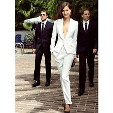 Womens Designer Suits 2 Piece Ladies White Trouser Suit  Formal Business Suits
