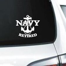 A237 United States Navy retired military veteran anchor sailor laptop car decal