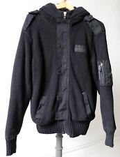 Mens Firetrap Black Cotton Casual Jacket With Very Soft Fluffy Lining  XL