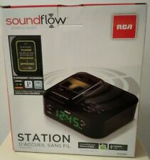 New RCA Wireless Dock Soundflow Clock Radio