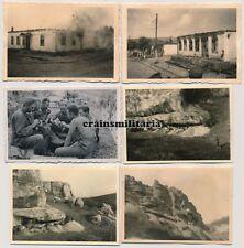6x Orig. Foto Stellung schw.Art.Abt.737 vor brennendes SEWASTOPOL Krim Russland