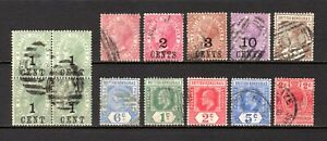 BRITISH HONDURAS QV 1882 TO KGV 1913 GOOD TO FINE USED RANGE CAT £43
