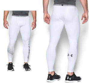 Under Armour Men's White Graphic Heat Gear Tights 1277079