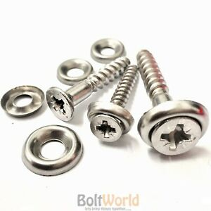 6g 7g 8g 9g A2 STAINLESS WOOD SCREW COUNTERSUNK + A2 CUP WASHER, POZI CSK SCREWS