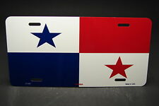 PANAMA FLAG METAL NOVELTY  LICENSE PLATE TAG FOR CARS  PANAMÁ BANDERA
