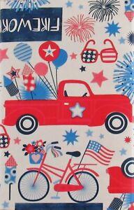 Patriotic Themed Elrene Vinyl Flannel Back Tablecloths Various Styles/Sizes