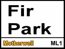 Motherwel fcl Fir Park Street Sign Metal Aluminium Football ground stadium